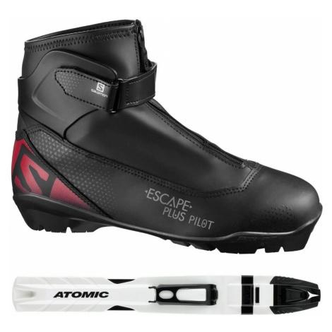 Topánky na bežky SALOMON Escape Plus + viazanie SNS Pilot Čierna