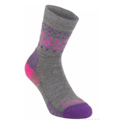Ponožky Bridgedale Hike Lightweight Merino Performance Boot Women's grey/pink/823