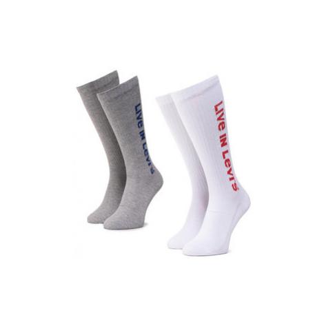 Levi's® Súprava 2 párov vysokých ponožiek unisex 37157-0237 Sivá Levi´s