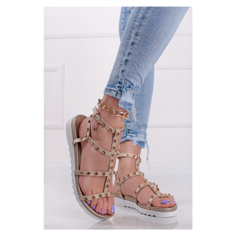 Zlaté nízke sandále Vella Laura Biagiotti