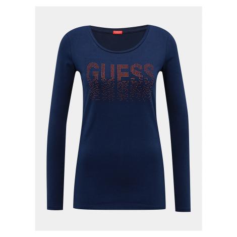 Tmavomodré dámske tričko Guess