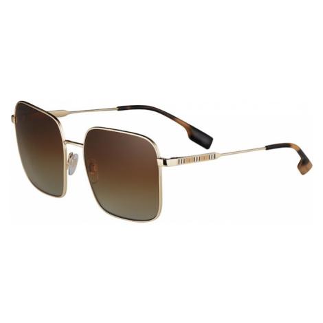 BURBERRY Slnečné okuliare 'JUDE'  zlatá / hnedá