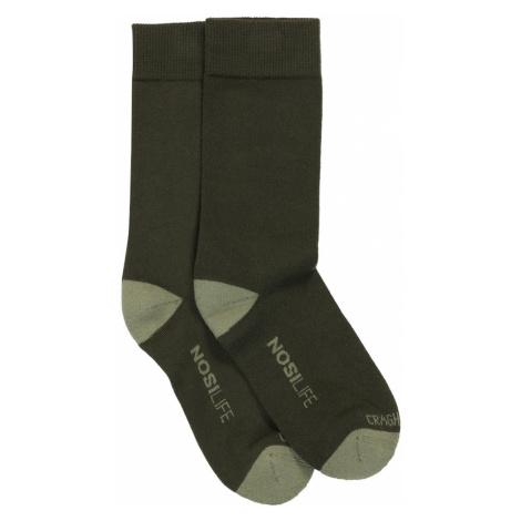 CRAGHOPPERS Športové ponožky 'NosiLifeTravel'  olivová / svetlozelená
