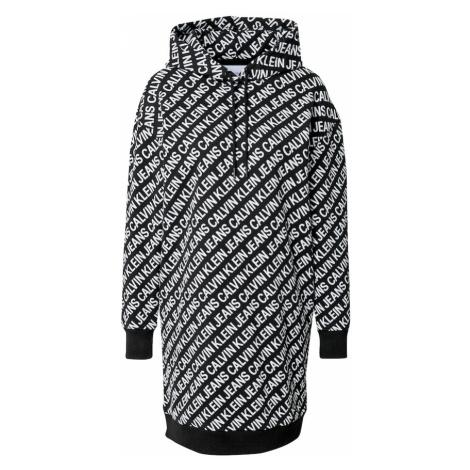 Calvin Klein Jeans Šaty  čierna / biela