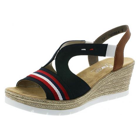 Rieker sandále QR052285094 modrá - 41