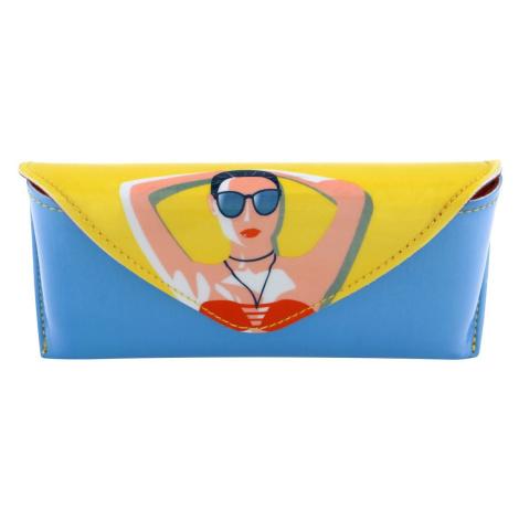 Santoro farebné pevné puzdro na okuliare First Class Lounge Life´s A Beach Santoro London