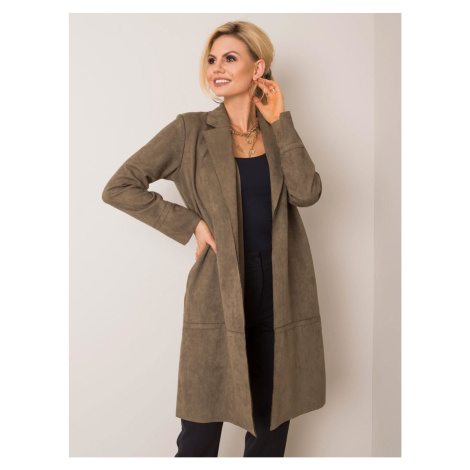 STITCH & SOUL Khaki eco suede coat