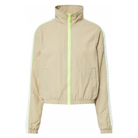 Urban Classics Prechodná bunda  biela / béžová / neónovo zelená
