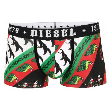 DIESEL Boxerky 'DAMIEN'  čierna / biela / béžová / svetločervená / zelená