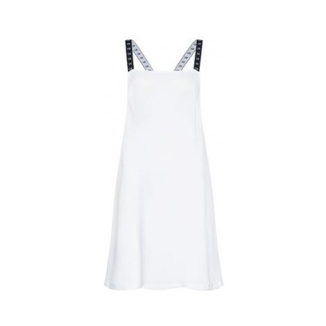 Calvin Klein Swimwear Plážové šaty Core Mono Tape KW0KW01010 Biela Regular Fit