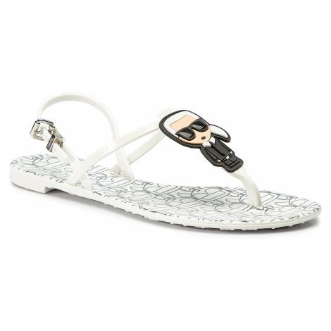 Sandále KARL LAGERFELD - KL80082  Silver Rubber