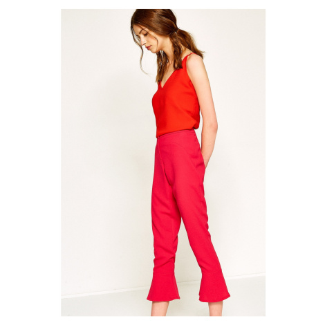 Koton Women's Fuchsia Pants
