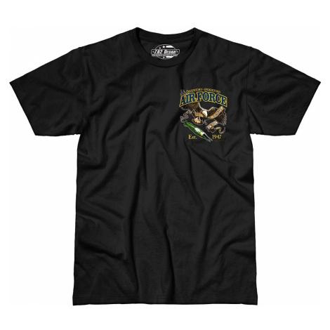 Pánske tričko 7.62 Design® US Air Force Fighting Eagle - čierne