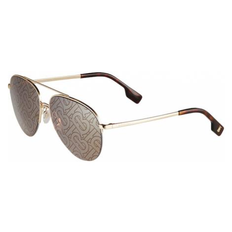 BURBERRY Slnečné okuliare 'FERRY'  zlatá / hnedá