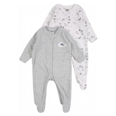 JACKY Pyžamo  biela / sivá