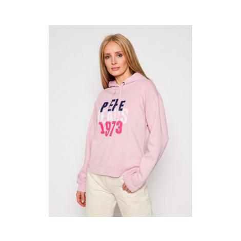 Pepe Jeans Mikina Babe PL580971 Ružová Regular Fit