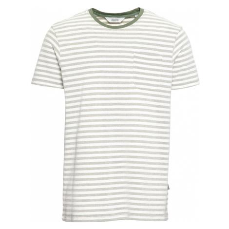 !Solid Tričko 'Pete'  olivová / biela