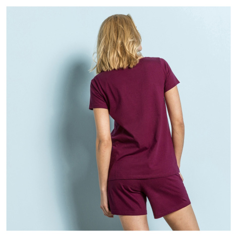 """Blancheporte Pyžamo so šortkami a krátkymi rukávmi, potlač """"vtáky"""" čerešňová"""