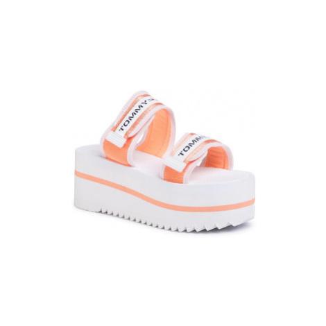 Tommy Jeans Šľapky Chunky Tape Flatform Sandal EN0EN00871 Oranžová Tommy Hilfiger