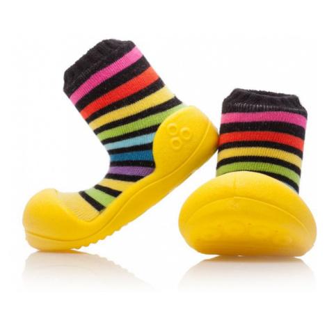 ATTIPAS Unisex topánočky Rainbow, veľ. - žltá
