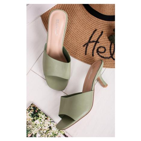 Zelené šľapky Kesha Belle Women