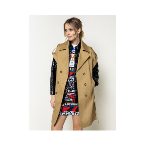 Pinko Prechodný kabát Sandwich PE 20 BLK01 1G14P4 Y63B Loose Fit
