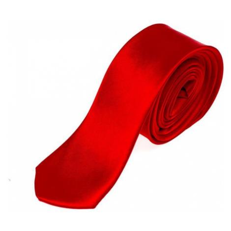 Červená pánska elegantná kravata BOLF K001