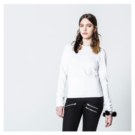 Biely sveter Wow Cheap Monday