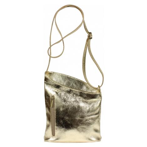 Zlatá kožená kabelka Angola Oro