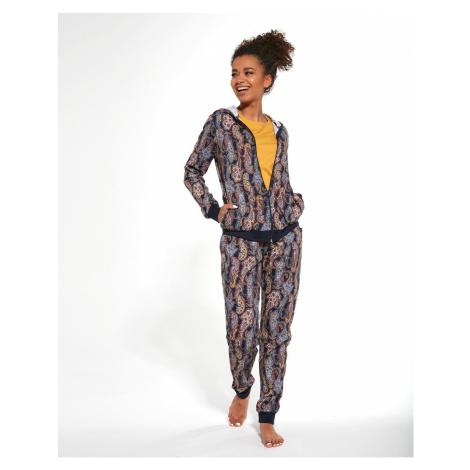 Trojdílné dámské pyžamo Cornette 355/272 Octavia Tmavě modrá