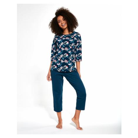 Dámske pyžamo Cornette 147/247 MM Tmavě modrá