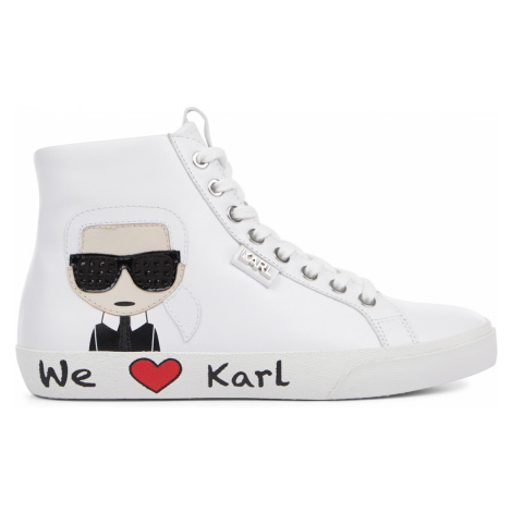 Členková Obuv Karl Lagerfeld Skool Karl Ikonic Hi Lace