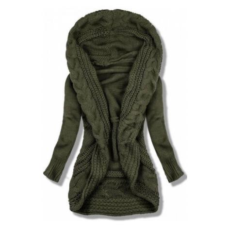 Khaki pletený sveter
