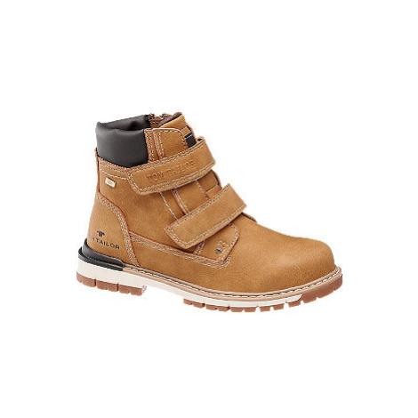 Hnedá členková obuv na suchý zips s TEX membránou Tom Tailor