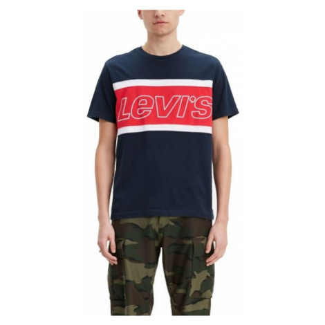 Levi's SS COLOR BLOCK TEE tmavo modrá - Pánske tričko Levi´s