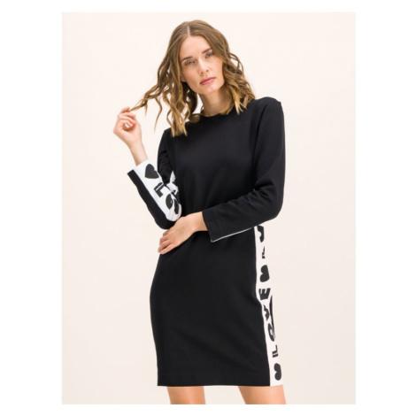 Úpletové šaty LOVE MOSCHINO