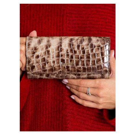 Patent leather wallet brown