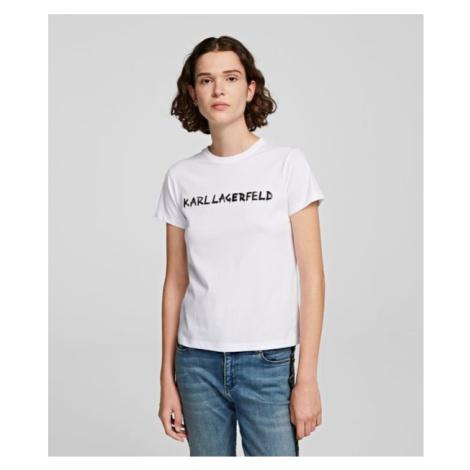 Tričko Karl Lagerfeld Graffiti Logo T-Shirt