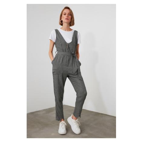 Trendyol Grey Belt Button Jumpsuit