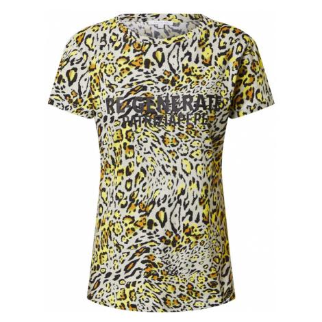PATRIZIA PEPE Tričko 'MAGLIA'  žltá / biela / čierna / pastelovo zelená