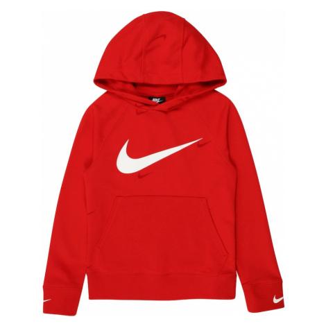 Nike Sportswear Mikina  biela / červená