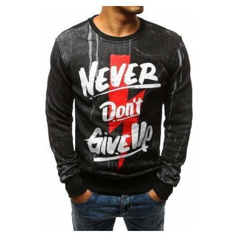 Black men's sweatshirt with print BX3533 DStreet