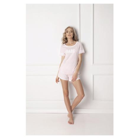 Dámske pyžamo Aruelle Babe Short Pink SS Růžová