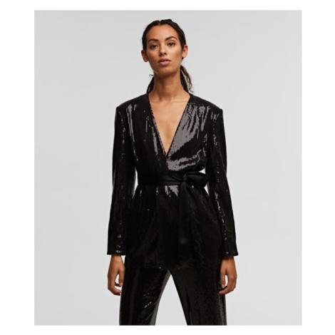 Sako Karl Lagerfeld Sequins Jacket W/ Belt