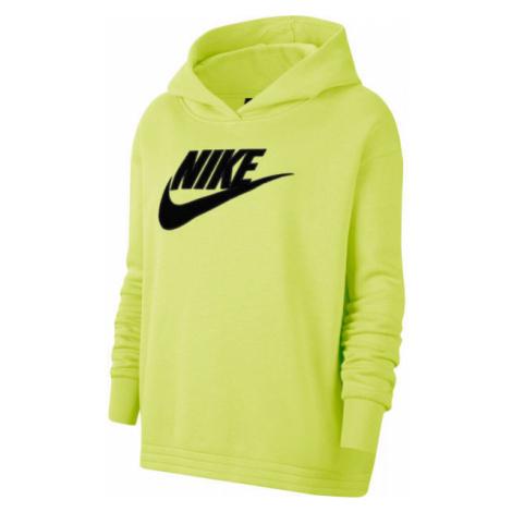 Nike NSW ICN CLSH FLC HOODIE PLUS W žltá - Dámska mikina