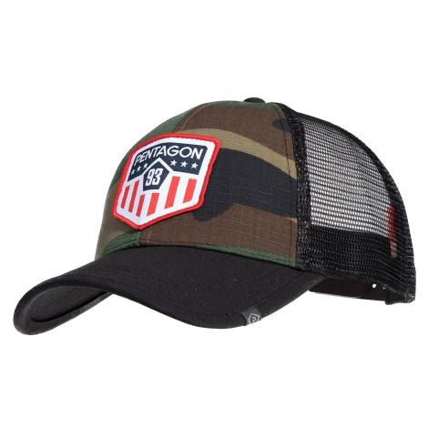 Šiltovka Era Trucker US Flag PENTAGON® - US woodland