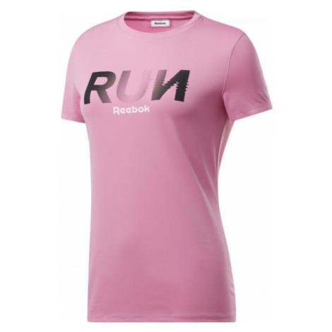 Reebok RE GRAPHIC TEE ružová - Dámske tričko
