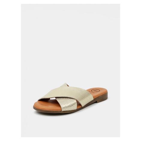 Leather slippers in OJJU gold