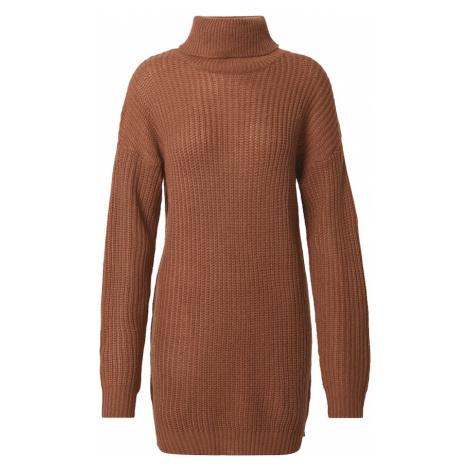 Missguided Pletené šaty  karamelová