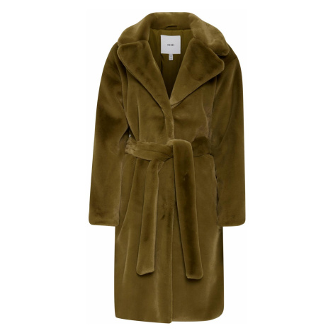 Ichi khaki zimný kabát Ihfrederica JA Fir Green